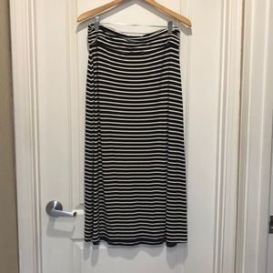 JCrew Outlet black and cream maxi skirt. GUC.